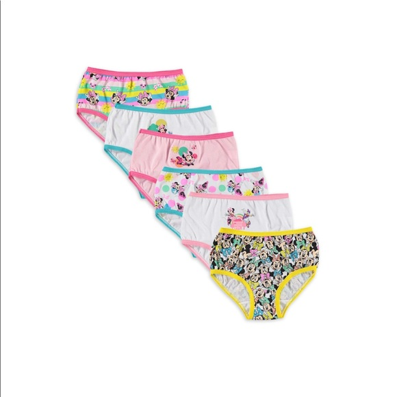 Girls Minnie Mouse Panties (pack of 5)